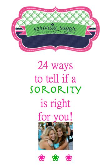 """One of the biggest questions in greek life is ~ """"How do I tell which sorority is right for me?"""" sorority sugar has 12 tips using your PNM heart and 12 tips for using your PNM head in discovering which chapter is your ideal match! <3 BLOG LINK: http://sororitysugar.tumblr.com/post/98579244209/rush-talk-which-sorority-is-right#notes"""