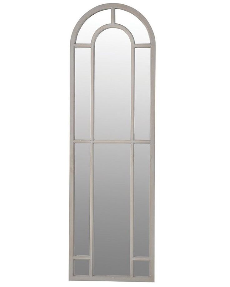 Arched Window Pane Mirror H:186cm, Tall
