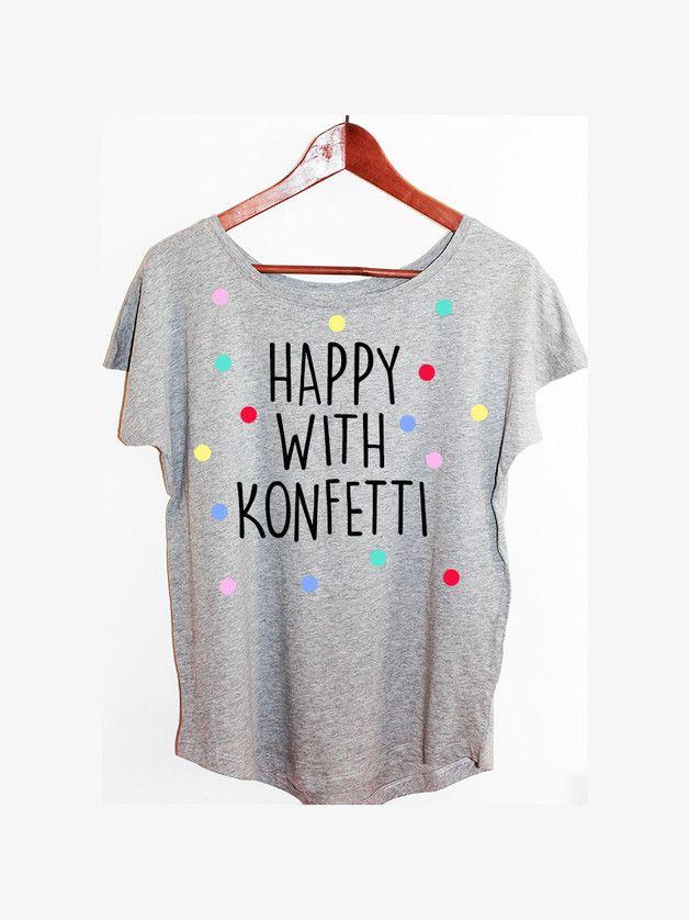 T-Shirts mit Spruch - Shirt Konfetti Blogger Hipster Vintage Punkte - ein Designerstück von KitschUndKrempel bei DaWanda