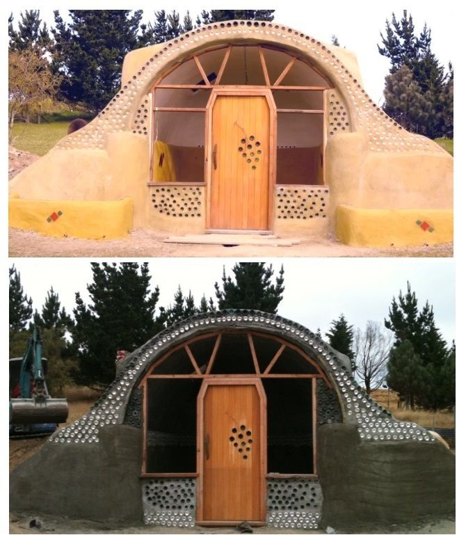 Rosa Henderson's Earthship (a type of passive solar house made of natural and recycled materials) Christchurch.