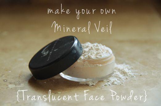 DIY: translucent face powder: Transluc Faces, Minerals Veils, Makeup Tips, Homemade Minerals, Powder Foundation, Faces Powder, Hair And Makeup, Transluc Powder, Diy Minerals