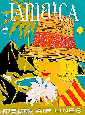 Jamaica-Greater-Antilles-Caribbean-Sea-Vintage-Travel-Advertisement-Art-Poster