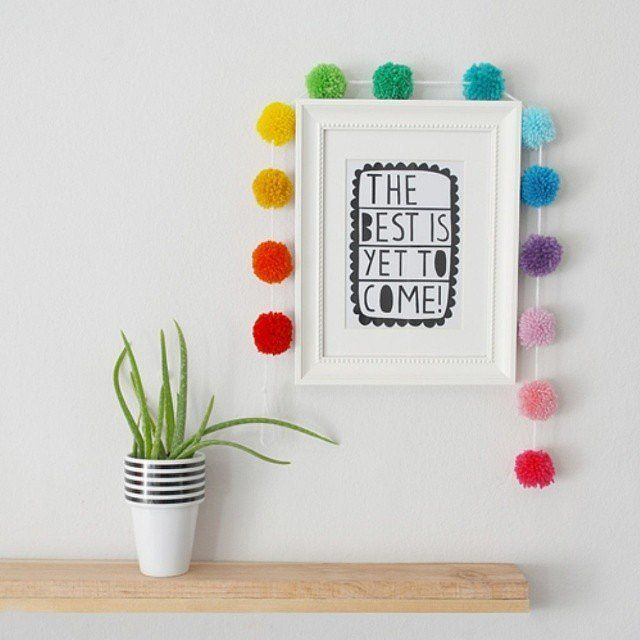 So cute! Hang them around a framed print for a pop of fun.