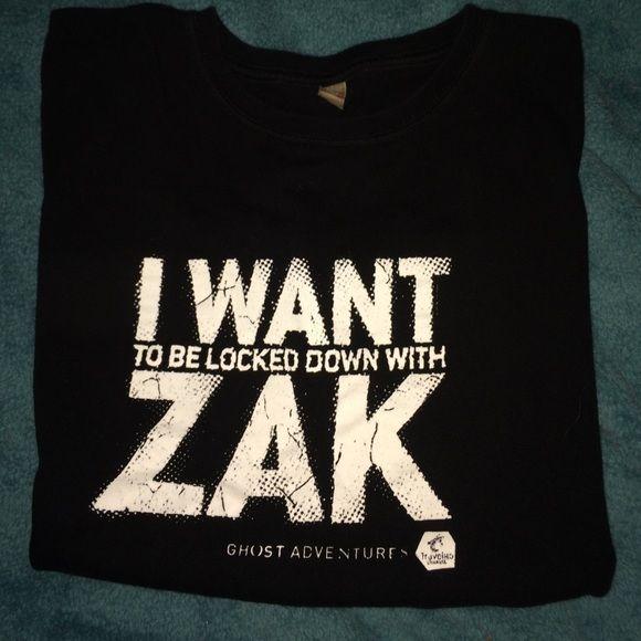 Ghost adventures T-shirt Zak Bagans T-shirt. Size: medium Tops Tees - Short Sleeve
