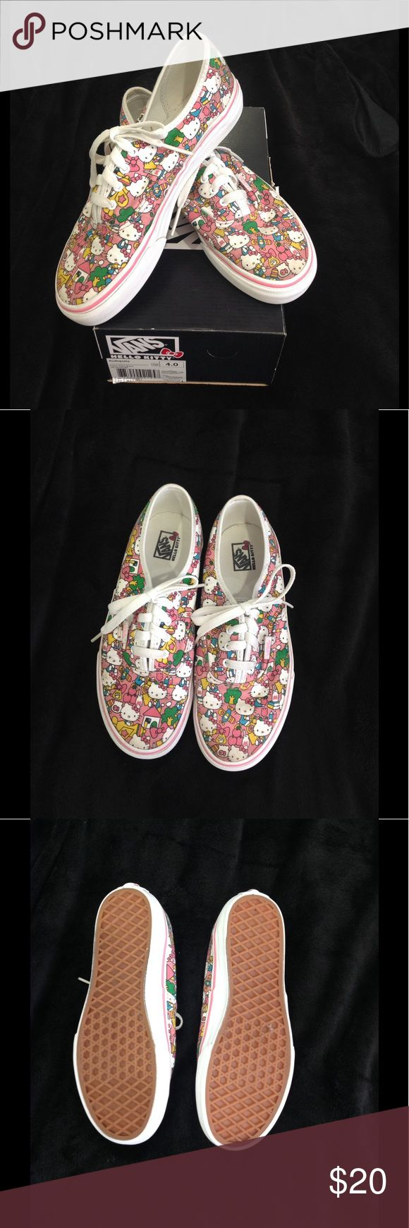Authentic Hello Kitty Vans These super cute Hello Kitty Vans come in excellent pre-owned condition. Worn just a handful of times. Come with original box. Vans Shoes Sneakers