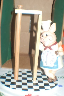 Pig Chef with Timer and Paper Towel Holder $19.99 ebay