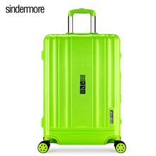 "20 ""24"" PP travel luggage suitcase carry on travel case trolley bag rolling hardside luggage suitcase with cup holder //FREE Shipping Worldwide //"