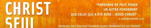 Editions Mennonites France - Christ Seul | ECOLE DU DIMANCHE : RESSOURCES EN LIGNE