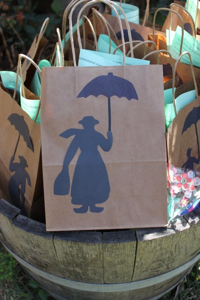 Favor Bags For Mary Poppins Party Party Planning