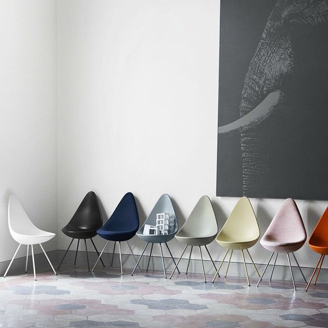 #LCDiscover - The classic 'Drop' #chair designed by designer Arne Jacobsen has been re-launched by @fritz_hansen. Now available in a variety of colours that works seamlessly in any living space!  #lanecrawford #newseason #SS15 #ReInterpret #ArneJacobsen #FritzHansen #furniture #home #lifestyle #design