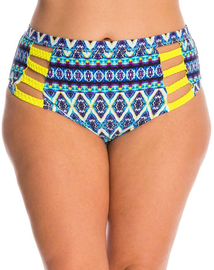 Jessica Simpson Plus Swimwear Plus Size To Dye For High Waist Bikini Bottom 8140044
