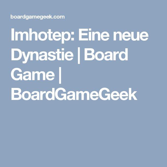 Imhotep: Eine neue Dynastie   Board Game   BoardGameGeek