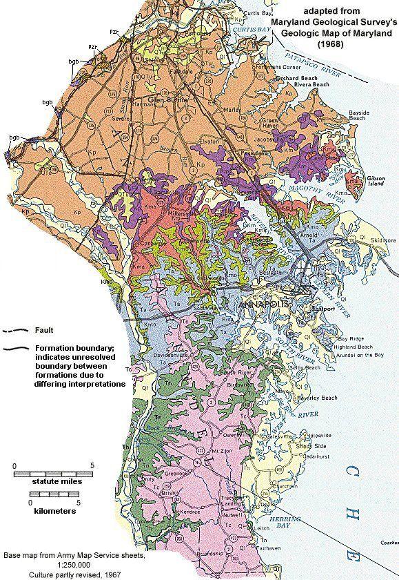 Geologic Maps of Maryland: Anne Arundel County | Maps | Maryland ...