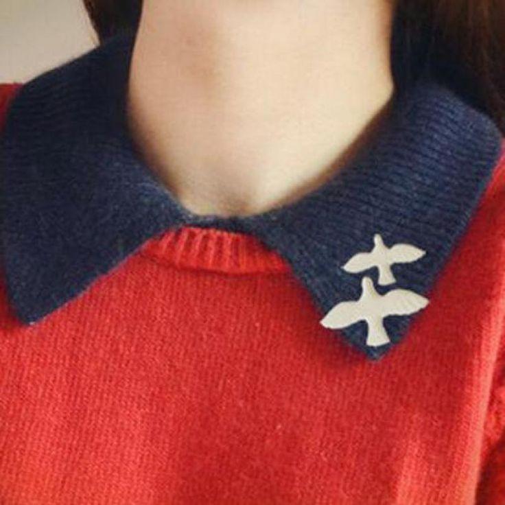 2015 Nueva Moda Retro Caliente Simple White Dove Broche, exquisito Pequeño Animal Collar Pin, los hombres Y Las Mujeres de La Joyería Al Por Mayor