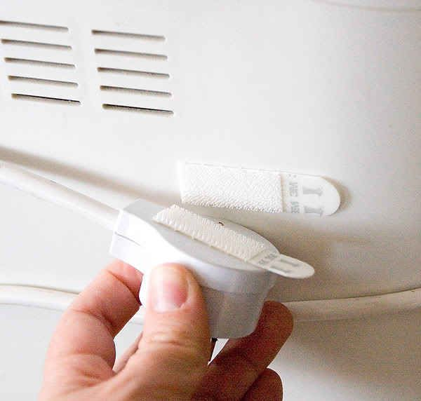 Wrap the cords around your unused appliances and secure with Velcro.