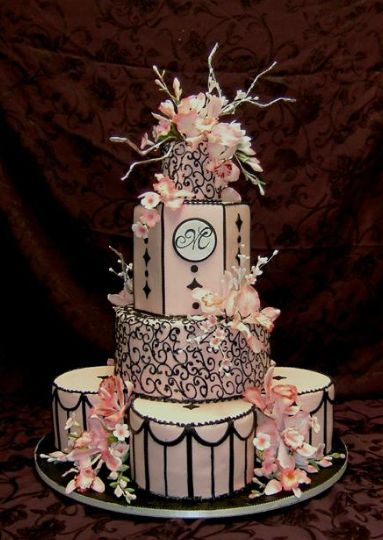 black and pink wedding cake pictures 98 best images about wedding black on cakes 11820
