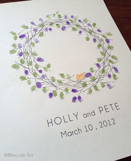 Leave an impression of a memorable day with a unique, and personal, way to record your guests! Interactive, creative and a beautiful keepsake to cherish for years to come! Unlike a boring guest book that sits on a table, collecting dust, this guestbook alternative is a work of art to hang on your wall and appreciate daily. This wreath design is timelessly classy and for family gatherings or parties! Each guest wreath drawing is *custom made* for showers, family reunions, festivities and the…