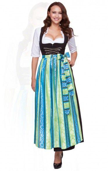Oktoberfest size length dirndl 1 piece Amber/SC220 turquoise