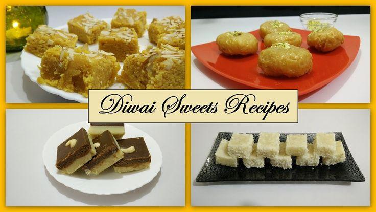 Diwali Sweets Recipe in Hindi | Mohanthal | Coconut Barfi | Mawa Chocola...