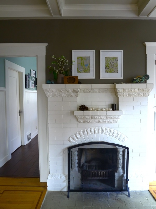 20 best painted brick fireplace images on Pinterest