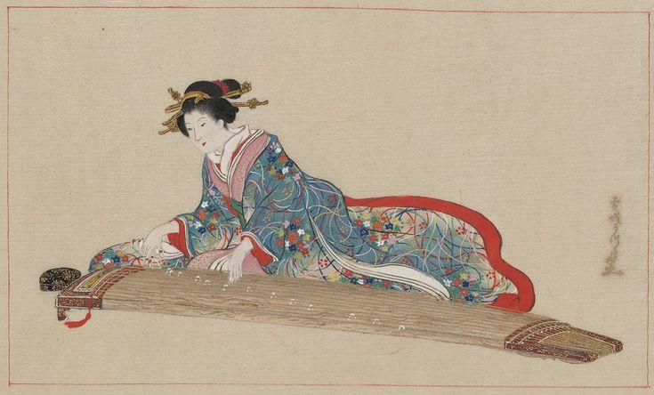 Lady playing koto - Koto (instrument) - Wikipedia