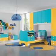 camere bambini baby B101 Giallo Lineare