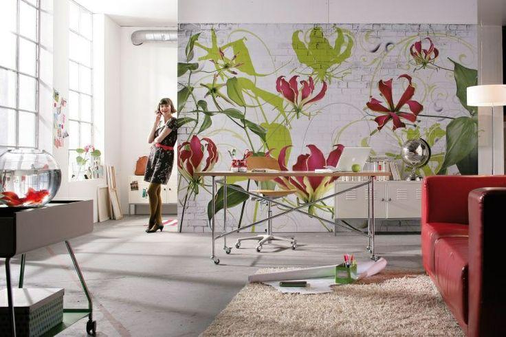 Fototapeta kwiaty - czy to aby na pewno tapeta?Sprawdźcie to sami:))