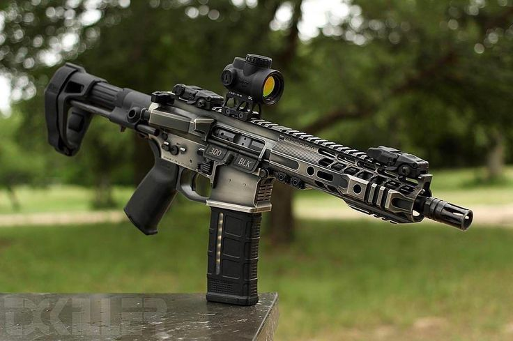 """1 of 30 8"""" 300blk outs. That nickel boron finish is ridiculous... Tyler it's time to get this thing suppressed and on some swine!"""