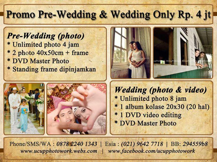 PROMO PRE-WEDDING & WEDDING