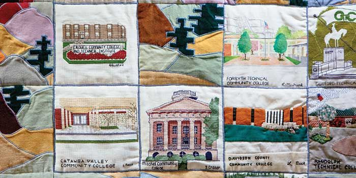 Stiches and Squares: A Tribute to North Carolina Community Colleges