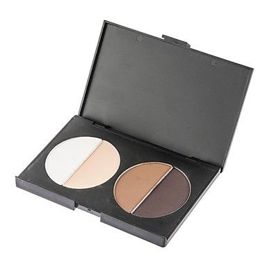 Highlighter Bronzing Bronzer Powder Compact 4 Color Thin Face Nose Shadow Makeup – USD $ 9.99