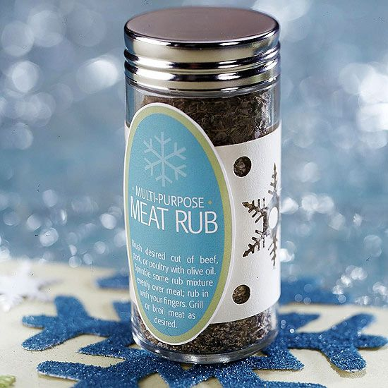 Snowflake Meat Rub- perfect as a homemade gift!