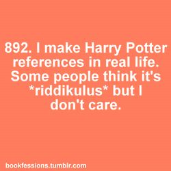 Harry Potter references - it's true!