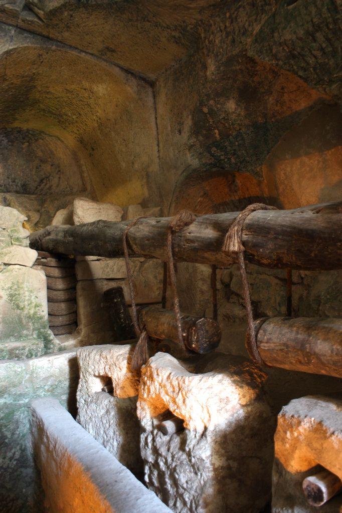 underground olive press, archaeological ruins, Maresha, Beit Guvrin-Maresha National Park, Israel