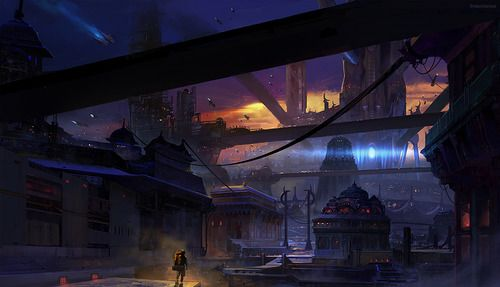 Travelling to the city in a Distopian world