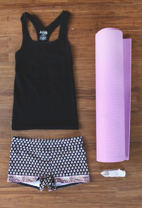 yoga mat and outfit