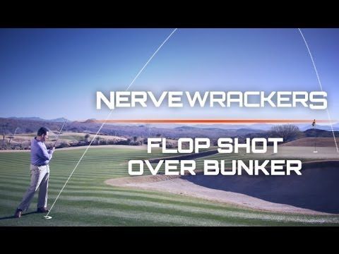 how to hit a flop shot with backspin