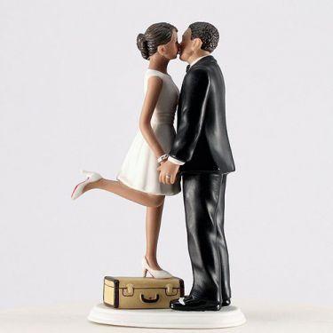 figurine mariage voyage couple brun