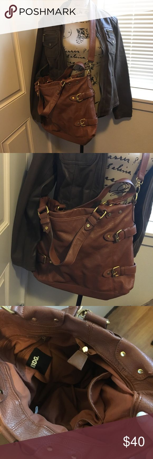 BDG FAUX LEATHER PURSE BDG faux leather bag with long strap and short handles. BDG Bags Crossbody Bags