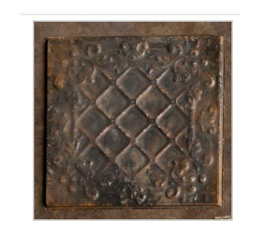 vintage style antique embossed tiles s 4 ceiling or wall tiles 12 x 12 black pottery. Black Bedroom Furniture Sets. Home Design Ideas