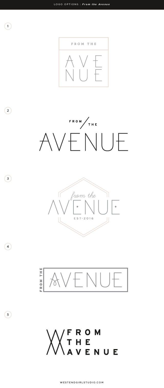 From The Avenue Kirsten Kizerian West End Girl Logo Inspiration Branding Baby Logo Design Branding Design Logo