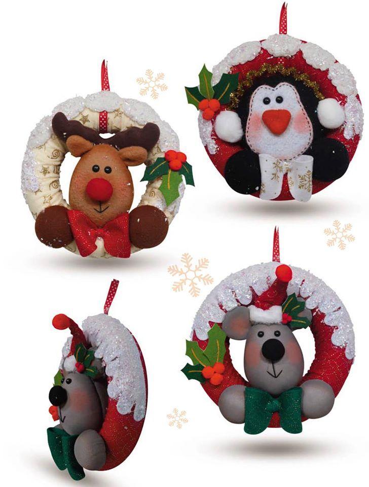 Moldes O Patrones Para Elaborar Hermosos Muñecos De Navidad - $ 8.000 en Mercado Libre