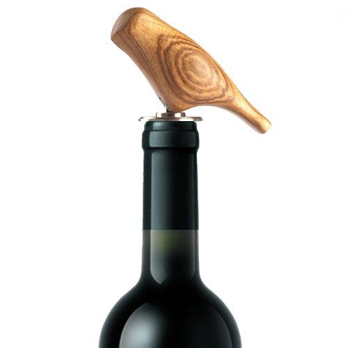 """Decorative Wine Accessory: Design Bottle Stopper """"Sparrow"""" - Handcrafted From Zingana Wood - Extraordinary Utensil for Kitchen or Bar Goodwei http://www.amazon.com/dp/B008W9N9JK/ref=cm_sw_r_pi_dp_FEZ0tb1BT4KWWB8J"""
