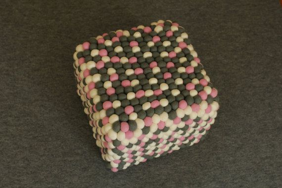 coubic pouf PinkPong by feltstoriesEU on Etsy