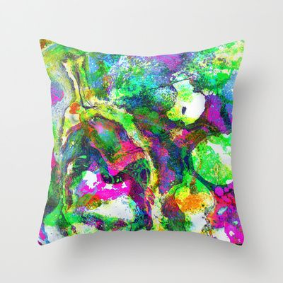 The Screaming Psychedelic cushion by Peta Herbert $20.00 @ #Society6