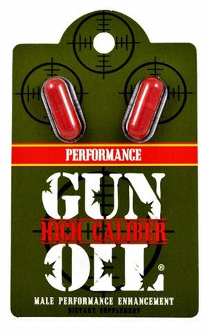 GUN OIL HIGH CALIBER PERFORMANCE DOUBLE BLISTER CARD $12.00 http://bad-honey.myshopify.com/products/gun-oil-high-caliber-performance-double-blister-card