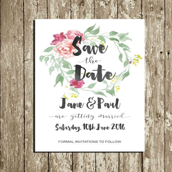 Best  Floral Save The Dates Ideas On   Floral Wedding