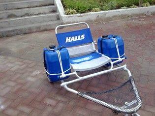 Es una silla anfibia que utiliza como boyas de flotaci n galoneras de pl stico ruedas - Carro para playa transportar sillas ...