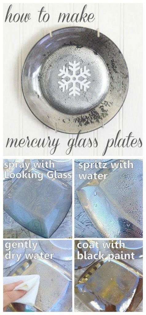 How to make mercury glass plates