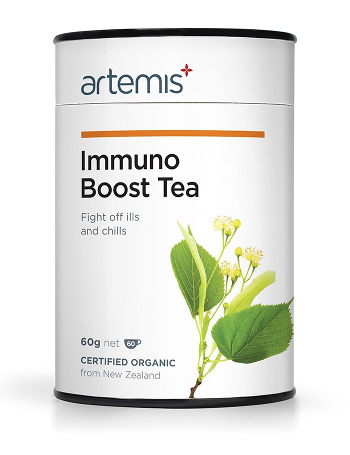 Immuno Boost Tea is a preemptive approach to ward off colds, flus or allergies. This effective natural formula contains the highest quality medicinal plants designed to strengthen your respiratory defense and to keep you healthy. Certified Organic, from NZ.